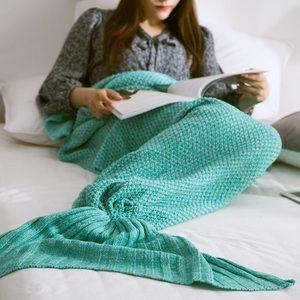 Blue Mermaid tail Blanket  🧜♀️